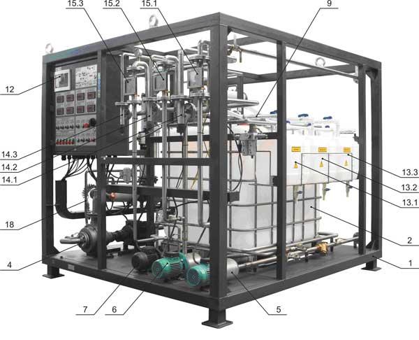Установка для виробництва бітумних емульсій УВБ 1 (2 м3/год)
