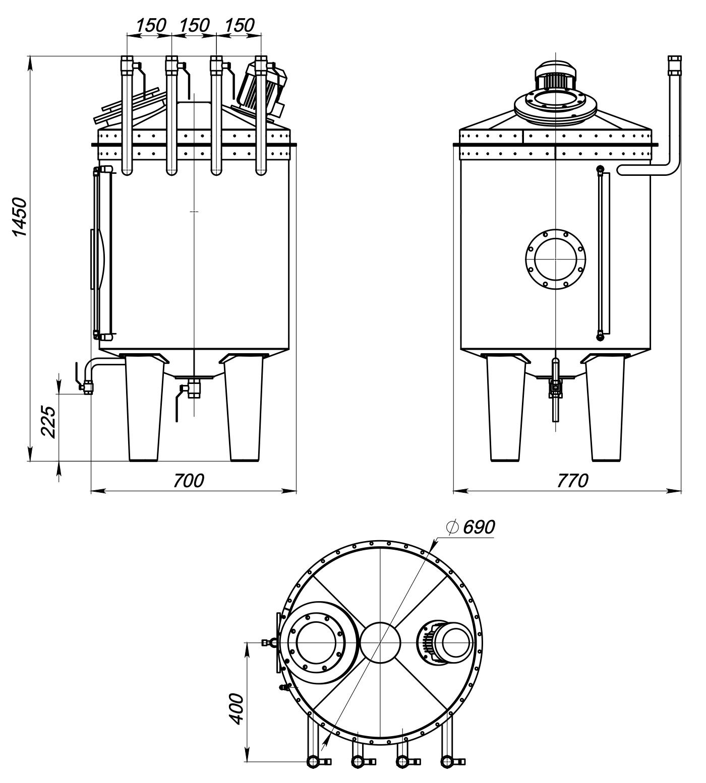 Промисловий змішувач для виробництва антисептиків